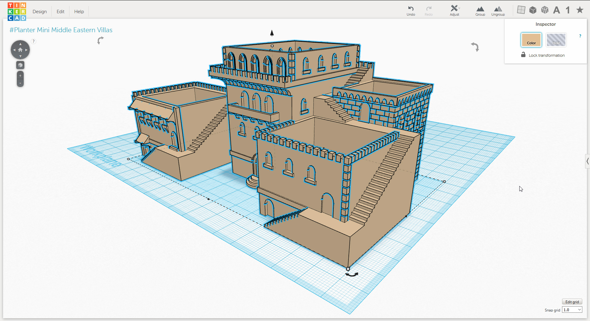 Tinker this design online using tinkercad