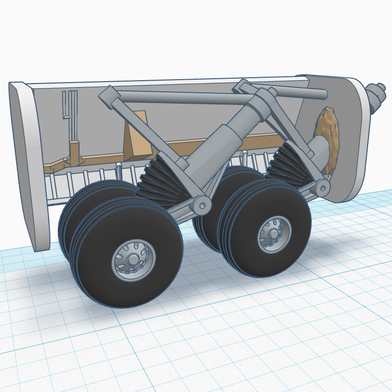 A scale Flatbed Cargo truck trailer